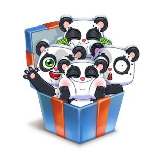 Бесплатные стикеры «Панда Куару»!