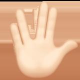 Смайл Рука с соединёнными пальцами (светлый тон) ВКонтакте