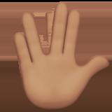 Смайл Рука с соединёнными пальцами (оливковый тон) ВКонтакте