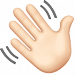 Смайл Машет рукой (светлый тон) ВКонтакте