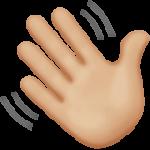 Смайл Машет рукой (светло-коричневый тон) ВКонтакте