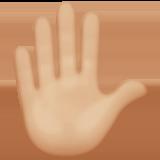 Смайл Знак приветствия (светло-коричневый тон) ВКонтакте