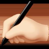 Смайл Пишущая рука (светлый тон) ВКонтакте