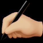 Смайл Пишущая рука (светло-коричневый тон) ВКонтакте