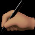 Смайл Пишущая рука (оливковый тон) ВКонтакте