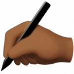 Смайл Пишущая рука (темно-коричневый тон) ВКонтакте