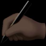 Смайл Пишущая закрашенная рука ВКонтакте