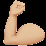 Смайл Демонстрация силы (бицепс) (светло-коричневый тон) ВКонтакте