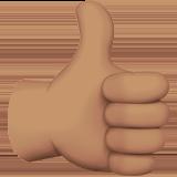 Смайл Палец вверх; лайк (оливковый тон) ВКонтакте