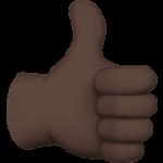 Смайл Палец вверх; лайк (черный тон) ВКонтакте