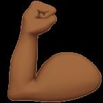 Смайл Демонстрация силы (бицепс) (темно-коричневый тон) ВКонтакте