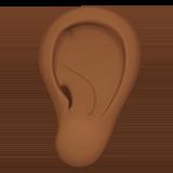Смайл Ухо (темно-коричневый тон) ВКонтакте