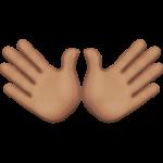 Смайл Открытые руки (оливковый тон) ВКонтакте