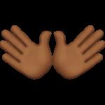 Смайл Открытые руки (темно-коричневый тон) ВКонтакте