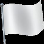 Смайл флаг Белый ВКонтакте