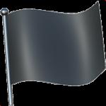 Смайл флаг Черный ВКонтакте