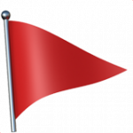 Смайл флаг Красный ВКонтакте