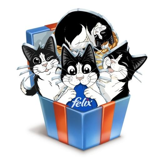 стикеры «Феликс» с котом от Purina PRO PLAN бесплатно