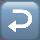 Смайл Стрелка вправо с поворотом влево ВКонтакте
