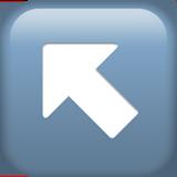 Смайл Стрелка влево-вверх ВКонтакте