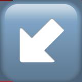 Смайл Стрелка влево-вниз ВКонтакте