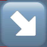 Смайл Стрелка вправо-вниз ВКонтакте