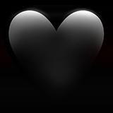 Смайл Черное сердце ВКонтакте