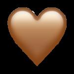 Смайл Коричневое сердце ВКонтакте