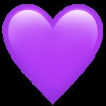 Смайл Фиолетовое сердце ВКонтакте