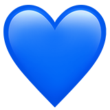 Смайл Синее сердце ВКонтакте