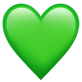 Смайл Зеленое сердце ВКонтакте