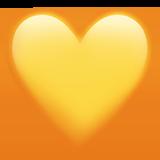 Смайл Желтое сердце ВКонтакте