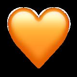 Смайл Оранжевое сердце ВКонтакте