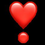 Смайл Сердце в виде восклицательного знака ВКонтакте