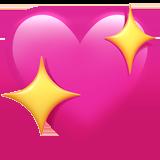 Смайл Сверкающее сердце ВКонтакте