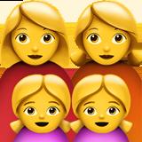 Смайл Семья из двух женщин с двумя девочками ВКонтакте