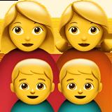 Смайл Семья из двух женщин с двумя мальчиками ВКонтакте