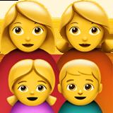Смайл Семья из двух женщин с одной девочкой и одним мальчиком ВКонтакте