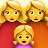 Смайл Семья из двух женщин с одной девочкой ВКонтакте