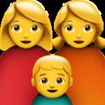 Смайл Семья из двух женщин с одним мальчиком ВКонтакте