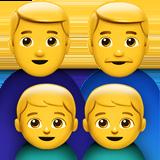 Смайл Семья из двух мужчин с двумя мальчиками ВКонтакте