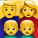 Смайл Семья мужчины и женщины с двумя мальчиками ВКонтакте