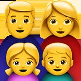 Смайл Семья мужчины и женщины с одной девочкой и одним мальчиком ВКонтакте