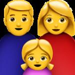 Смайл Семья мужчины и женщины с одной девочкой ВКонтакте