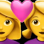 Смайл Любящая пара: две женщины ВКонтакте