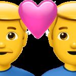 Смайл Любящая пара: двое мужчин ВКонтакте