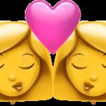 Смайл Две женщины целуются ВКонтакте
