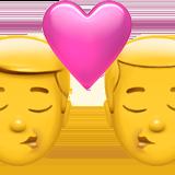 Смайл Двое мужчин целуются ВКонтакте