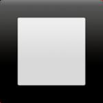 Смайл Черная квадратная кнопка ВКонтакте
