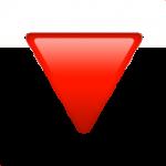 Смайл Треугольник вершиной вниз ВКонтакте